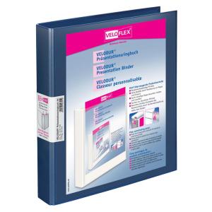 VELOFLEX Präsentationsringbuch VELODUR - DIN A4 - PP - 2,5 cm - blau