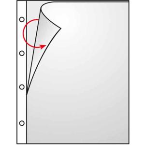 VELOFLEX Prospekthüllen - DIN A4 - PP - links+oben...