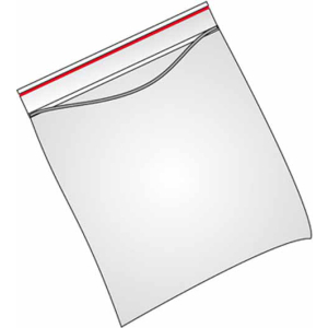VELOFLEX Druckbandbeutel - 80 x 120 mm - PP - transparent - 100 Stück
