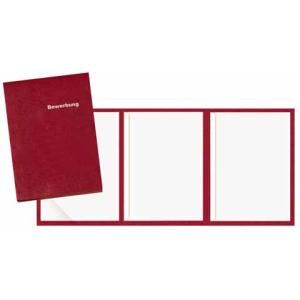 VELOFLEX Bewerbungsmappe - DIN A4 - Karton - 3-teilig - rot