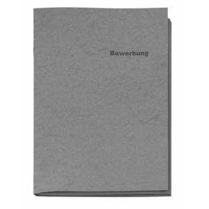 VELOFLEX Bewerbungsmappe - DIN A4 - Karton - 3-teilig - grau