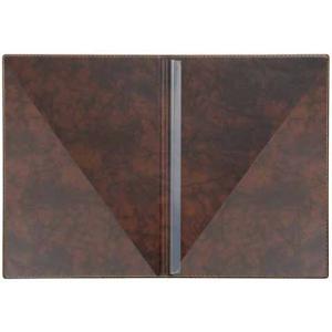 VELOFLEX Bewerbungsmappe Exquisit - DIN A4 - PVC - braun