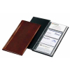 VELOFLEX Visitenkartenbuch Exquisit - 120 x 245 mm - PVC - für 96 Karten - braun
