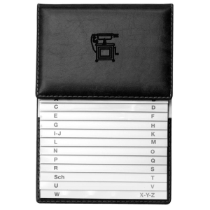 VELOFLEX Schuppen-Telefonregister Exquisit - PVC - 500 Nummern - 12 Blatt - schwarz