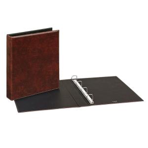 VELOFLEX Ringbuch Exquisit - DIN A4 - PVC - 2,5 cm - braun