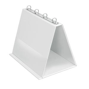 VELOFLEX Tischflipchart - DIN A4 quer - PVC - weiß