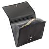 VELOFLEX Fächermappe - DIN A4 - Textil - 12 Fächer - Magnetverschluss - schwarz