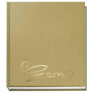 VELOFLEX Gästebuch - 205 x 240 mm - 144 Seiten - gold