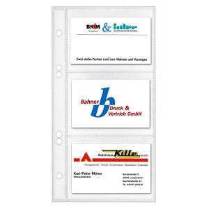 VELOFLEX Visitenkartenhüllen - 110 x 210 mm - PP -...