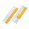 VELOFLEX HEFTFIX Heftstreifen - 30 x 105 mm - PVC - selbstklebend - glasklar - 1000 Stück