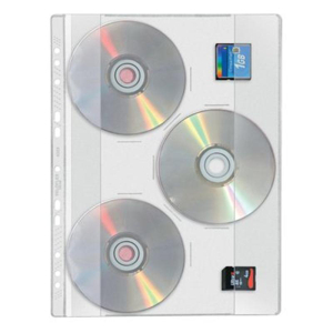 VELOFLEX CD-DVD Hülle - DIN A4 - PP - glasklar -...