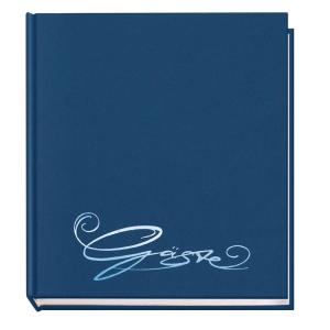 VELOFLEX Gästebuch - 205 x 240 mm - 144 Seiten - blau
