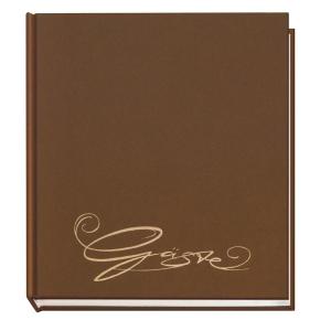 VELOFLEX Gästebuch - 205 x 240 mm - 144 Seiten - braun