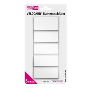 VELOFLEX VELOCARD Namensschilder - 40 x 75 mm - PVC -...