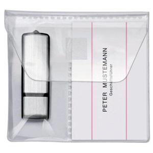 VELOFLEX USB-Stick-Hülle - selbstklebend - glasklar - 5 Stück