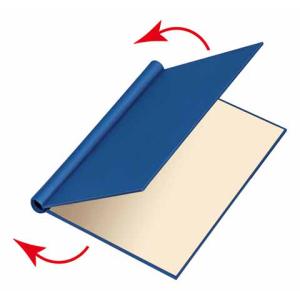 VELOFLEX Klemmbinder - DIN A4 - Karton - max. 200 Blatt - weinrot
