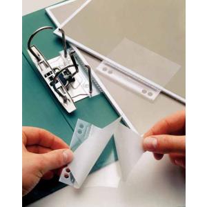 VELOFLEX Doppelheftfix Heftstreifen - 60 x 100 mm - PP - selbstklebend - glasklar - 10 Stück