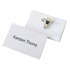 VELOFLEX VELOCARD Namensschild - 90 x 57 mm - PVC - Clip+Nadel - transparent