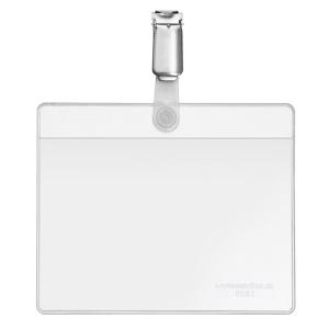 VELOFLEX VELOCARD Namensschild - 105 x 74 mm - PVC - Clip - transparent