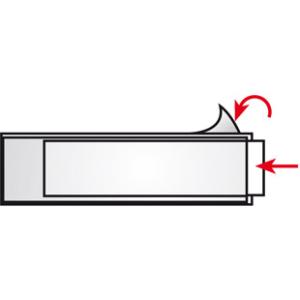VELOFLEX VELOCOLL Beschriftungsfenster - 45 x 119 mm - PP...