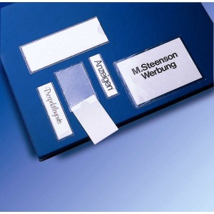 VELOFLEX VELOCOLL Beschriftungsfenster - 45 x 119 mm - PP - selbstklebend - transparent - 100 Stück