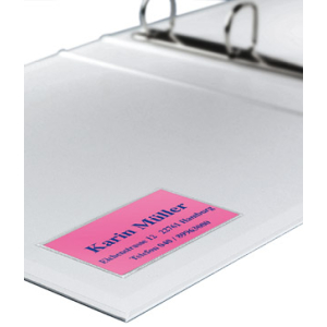 VELOFLEX VELOCOLL Visitenkartentaschen - 90 x 57 mm - PP - transparent - 100 Stück