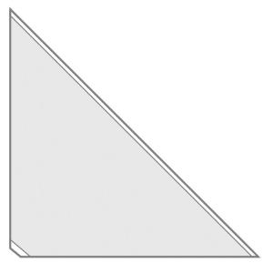 VELOFLEX VELOCOLL Dreiecktaschen - 17 x 17 cm - PP - selbstklebend - glasklar - 8 Stück