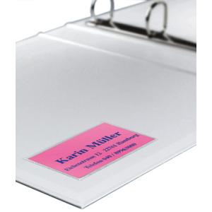 VELOFLEX Visitenkartentaschen VELOCOLL - 56 x 90 mm - PP - selbstklebend - transparent - 100 Stück