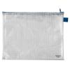 VELOFLEX Reißverschlusstasche - DIN A4 - PVC - transparent