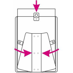 VELOFLEX Plakatständer - DIN A3 - PP - glasklar