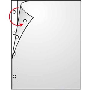 VELOFLEX Prospekthüllen - DIN A4 - PP - links+oben offen - farblos matt - 100 Stück