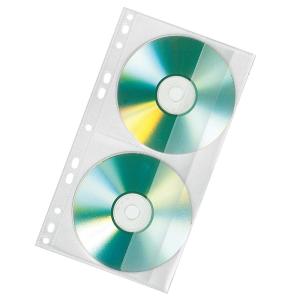 VELOFLEX CD-DVD Doppelhülle - DIN A4 - PP - farblos...