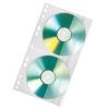 VELOFLEX CD-DVD Doppelhülle - DIN A4 - PP - farblos - für 2 CDs - 100 Stück