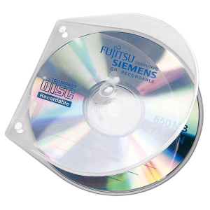 VELOFLEX VELOBOX CD-DVD Hüllen - PP - transparent -...