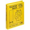 VELOFLEX Telefonringbuch - DIN A5 - PP - gelb - 25 Blatt
