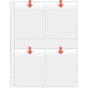 VELOFLEX Fotohüllen - DIN A4 - 9 x 13 cm hoch - PP -...