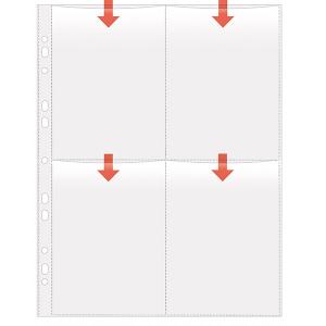 VELOFLEX Fotohüllen - DIN A4 - 10 x 15 cm hoch - PP...