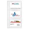 VELOFLEX Visitenkartenhüllen - DIN A5 - PP - für 6 Karten - transparent - 10 Stück
