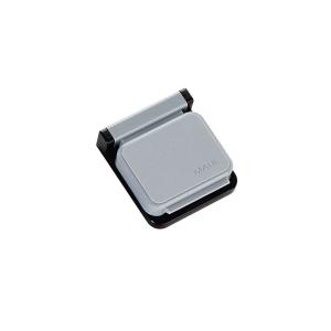 MAUL Planhalter Magnetclip selbstklebend, 36x40mm, grau 1 Stück