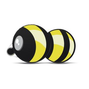 Herma 1104 Kleberoller - Biene - gelb - schwarz -...