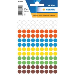 Herma 1831 VARIO Etiketten - Ø 8 mm - Farbpunkt -...