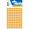 Herma 1844 VARIO Etiketten - Ø 8 mm - Farbpunkt - leuchtorange - 540 Stück
