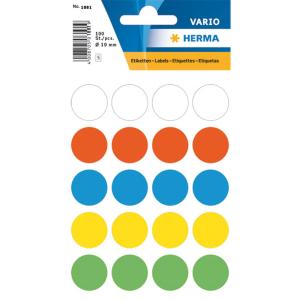 Herma 1881 VARIO Etiketten - Ø 19 mm - Farbpunkt -...