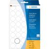 Herma 2257 Verschlussetiketten - Ø 19 mm - rund - transparente Folie - 640 Stück
