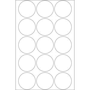 Herma 2277 Verschlussetiketten - Ø 32 mm - rund - transparent - perforiert - 240 Stück