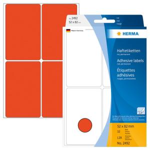 Herma 2492 Vielzwecketiketten - 52 x 82 mm - rot - Papier...