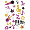 Herma 3276 MAGIC Sticker - Musik - glitzernd - 22 Sticker