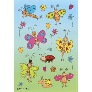 Herma 3303 DECOR Sticker - Lustige Schmetterlinge - 24...