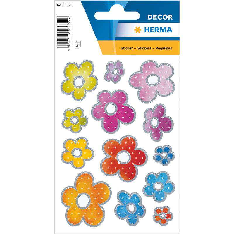 Herma 3332 DECOR Sticker - Blumen - 26 Sticker