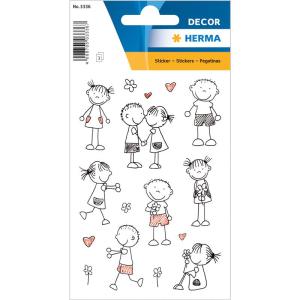 Herma 3336 DECOR Sticker - Strichmännchen - 24 Sticker